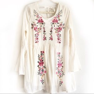 NWT | UMGEE Floral Tunic Babydoll Embroidery Sz M